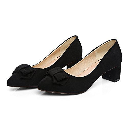 la Señaló Boca Superficial Negro de Bloque amp;X Qin convergencia Mujer la Zapatos xBYnX