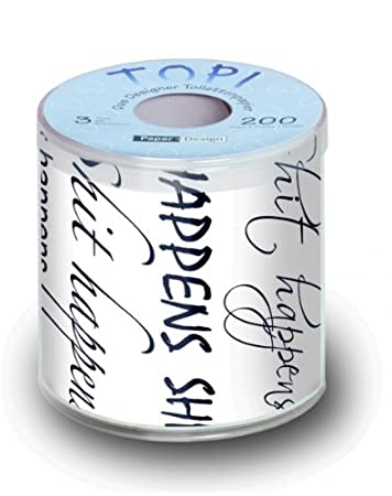 Toilettenpapier Lustig Bedruckt Mit Design Shit Happens