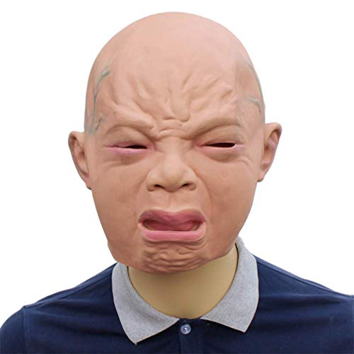 Novelty Funny Halloween Cosplay Party Costume Latex Head MaskWeeping Face -