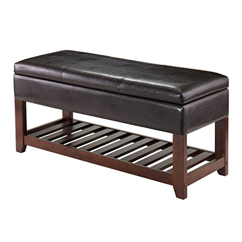 Winsome Monza Bench with Storage Chest, Brown