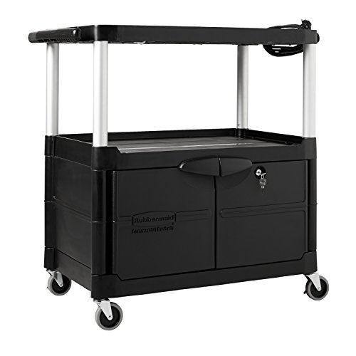 Rubbermaid Commercial Electronic AV Cart, 3-Shelf, 33-Inch