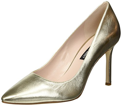 Nine West Women's EMMALA Metallic Pump, Light Gold, 10.5 M US (Nine West Gold Shoes)