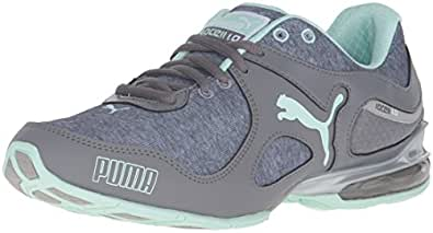 PUMA Women's Cell Riaze WN'S Heather FM Cross-Trainer Shoe, Steel Gray/Drizzle/Bay, 5.5 M US