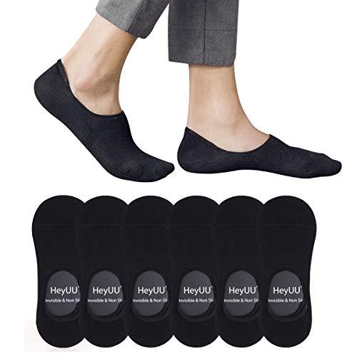 HeyUU 3 | 6 | 10 Paar Herren & Damen Baumwolle Füßlinge Unsichtbare Sneaker Socken Mit Innen 8 Rutschfeste Silikonstreifen Rutschfeste Socken