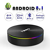 Android 8.1 TV Box with 4GB RAM 32GB ROM, EASYTONE T95Q Android TV Boxes Quad-Core S905X2 Support 5G WiFi/H.265/ BT4.1/ USB 3.0/ 1000M LAN/ 4K Ultra HD [2019 Newest]