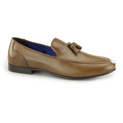 Red Tape Ampthill Mens Leather Tassel Loafers Tan Tan UOtQmdC