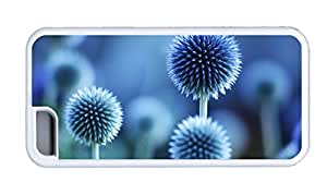 Cute iphone 5C covers carrying Flower plant blue mood TPU White for Apple iPhone 5C