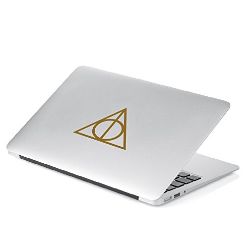 Deathly Hallows Inspired Harry Potter 5 Height Decal Sticker for Car Window Laptop Motorcycle Walls Mirror and More. Sku 467 White