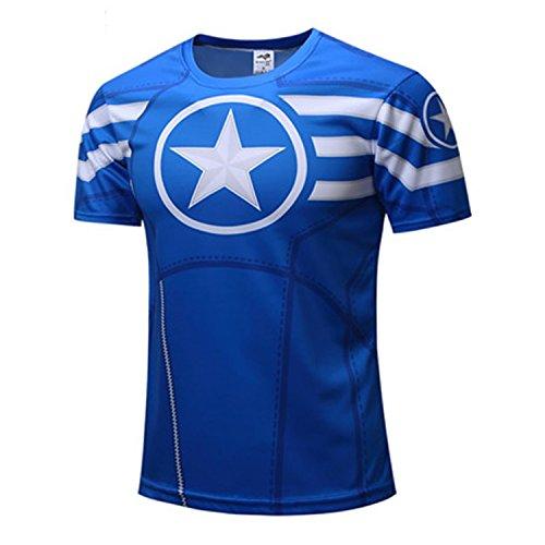 AmonKui Spiderman Ironman Captain America Winter Soldier Marvel T Shirt Avengers Costume Comics Superhero Mens Picture Color (Kingpin Costume Ideas)