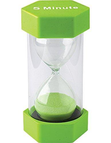 LITVZ 5 Mins Sand Timer, Teacher Resource Hourglass Kids Toy Precise Sand Clock, Green Cooking Baking Kitchen Toothbrush Timer