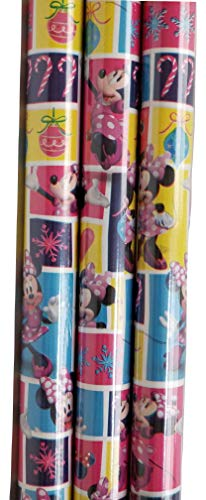 Minnie Mouse Theme Gift Wrap -Christmas Wrapping Paper 20 sq ft. (1 Roll)]()