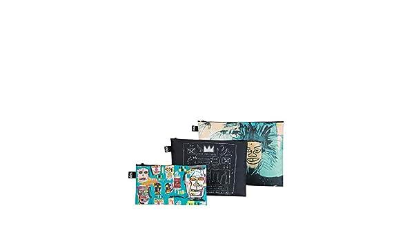 LOQI LOQI Jean Michel Basquiat Zip Pockets Monedero: Amazon ...