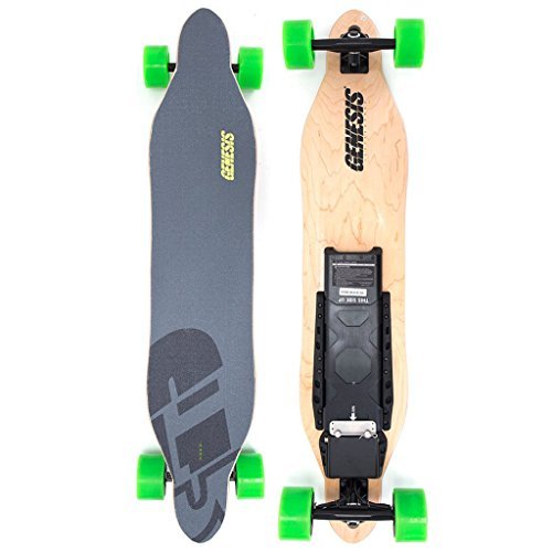 Genesis Tomahawk Electric Skateboard - Green Wheels