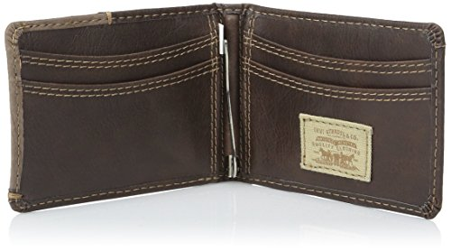 Levi S Men S Slim Front Pocket Wallet With Money Clip