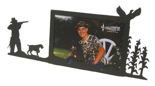 Pheasant Hunter & German Wirehaired Pointer 4X6 Horizontal Picture Frame