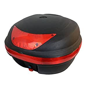 Motorcycle Scooter Top Box Tail Trunk Luggage Box - 29 Lt Capacity - Can Store One (1) Helmet (997)