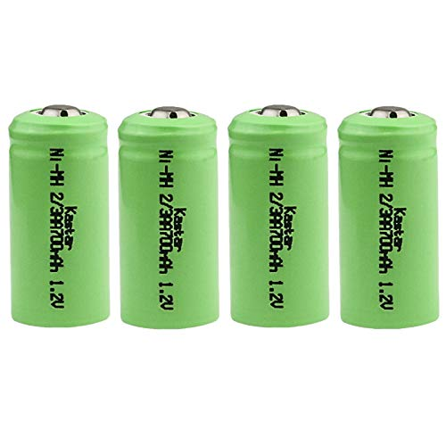 Yards & Beyond SOLAR RECHARG BATTERY4PK by LIVING ACCENTS MfrPartNo BTNC23AA150D4, Green/silver, ]()