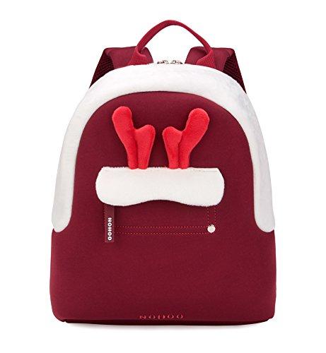 Tom Clovers Lightweight Cute Christmas Reindeer Antlers Cartoon School Bag Kids Backpack Pre School Children Toddler