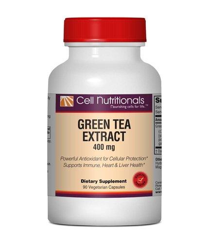 Extrait de Thé Vert, 400 mg, 90 Veg Capsules (standardisé à 98% de polyphénols, 50% EGCG)