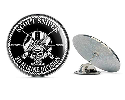 NYC Jewelers Round Scout Sniper 2D Marine Division (one Shot Kill 2nd) Metal 0.75