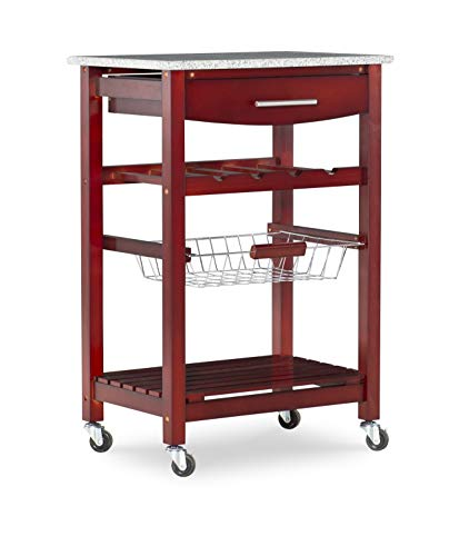 kitchen carts with granite top - 2