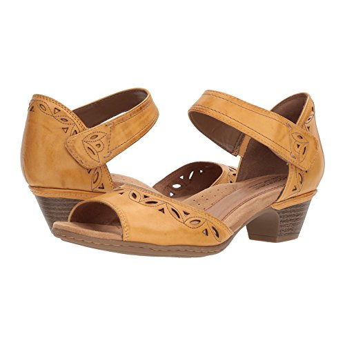 Rockport Cobb Hill Collection Women's Cobb Hill Abbott Two-Piece Ankle Strap Yellow Leather 8.5 B US