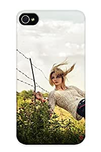 Crooningrose 33f069c2069 Case Cover Iphone 4/4s Protective Case Barb Wire Fence Mood Situations Flowers Blondes Models Women Females Girls Sexy Babes ( Best Gift For Friends)