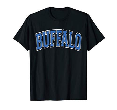 - Buffalo NY T Shirt - Varsity Style Blue Print