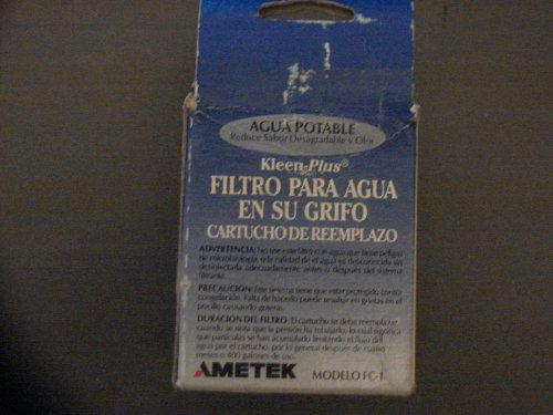 Kleen-Plus Faucet Water Filter Replacement Cartridge Model FF150 (Model FC-1) Ametek