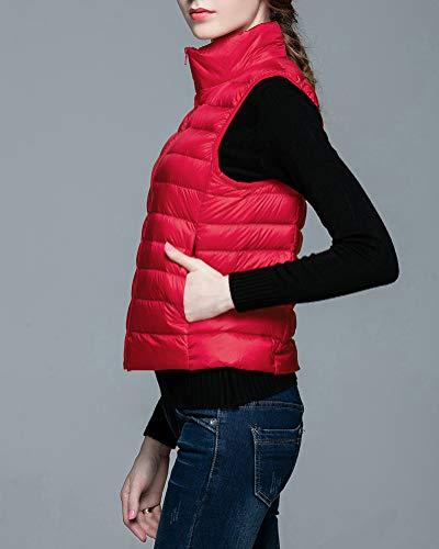 Ultralight Ultralight Warmer Doudoune Sans Sans Sans Rouge Femmes Body Gilet CqgCvT