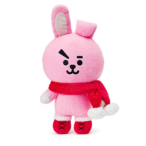(LINE FRIENDS BT21 Official Merchandise Cooky Character Winter Standing Plush Toy Doll 10 inches)