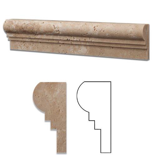 Ogee Chair Rail - Ivory Travertine Honed 2 1/2