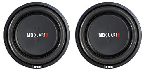 2) MB Quart DS1-254 800 Watt 4 Ohm Shallow Slim Subwoofers Car Truck DVC Subs