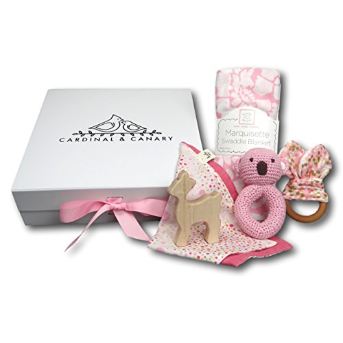 Classic Baby Gift Box in Pink by Cardinal and Canary