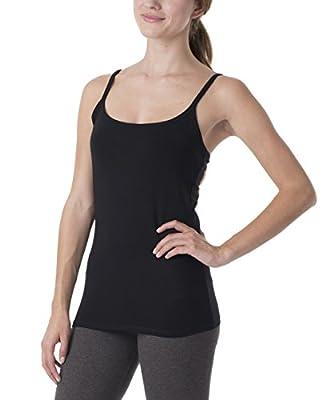 PACT Everyday Super Soft Organic Women's shelf bra camisole Style EA1-WCB