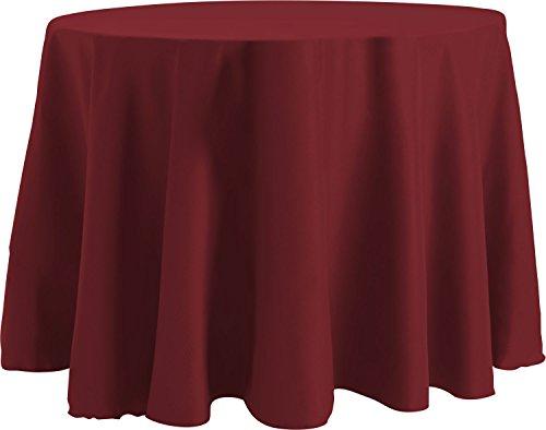 Tablecloth Basic (Bright Settings 70 x 120 Inch OVAL Tablecloth, Flame Retardant Basic Polyester, Burgundy)