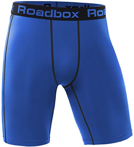(Roadbox Men's Running Compression Shorts, Baselayer Cool Dry Sports Tights Active Athletic Workout Underwear)