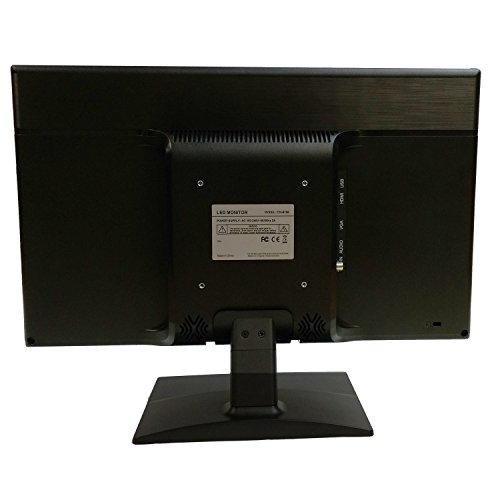 101AV Security 18.5 HD LCD Security Monitor HDMI VGA & BNC Input Build in Speaker Audio Video Display Computer PC monitor for CCTV DVR Home Office Surveillance Optional Mount by 101 Audio Video Inc. (Image #1)