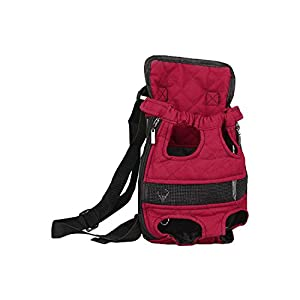 PiGGyB Dog Cat Pet Friend Outdoors Backpack Travel Bag Carrier Walker Lightweight for Tiny,Small and Medium Puppies or Dogs (Medium 7lb to12.1 lb)