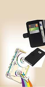 All Phone Most Case / Oferta Especial Cáscara Funda de cuero Monedero Cubierta de proteccion Caso / Wallet Case for Samsung Galaxy S6 EDGE // Psychedelic Rainbow Tape