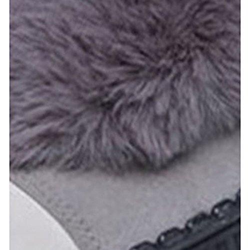 HSXZ Damenschuhe Stiefel Nubukleder Winter Combat Stiefel flachem Absatz Runder Mid-Calf Stiefel Damenschuhe für Casual Schwarz Grau schwarz ec3dbd