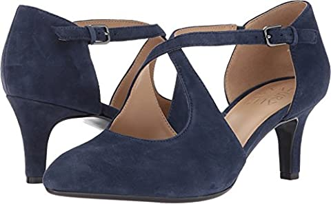 Naturalizer Women's Okira Navy Suede Pump - Blue Suede Pump Shoes