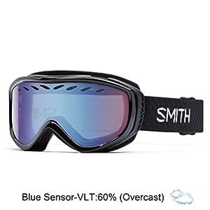 Smith Optics Transit Women's Airflow Series Snow Snowmobile Goggles Eyewear - Black / Blue Sensor Mirror / Medium