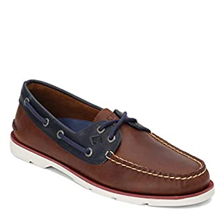 Sperry Men's, Leeward Boat Shoe Nautical TAN/Navy 7 M