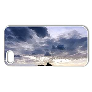 gorgeous beachscape - Case Cover for iPhone 5 and 5S (Beaches Series, Watercolor style, White)