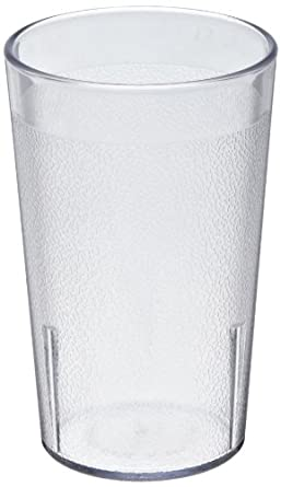 "Cambro 950P152 Colorware Tumbler, 9.8 Ounce, 4-3/8"" Height, Plastic, Clear, 72-units"