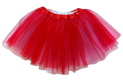 So Sydney Reversible 2 Color Ballerina Girls Princess Costume Dance Tutu Skirt (Red & White) Reversible Tutu