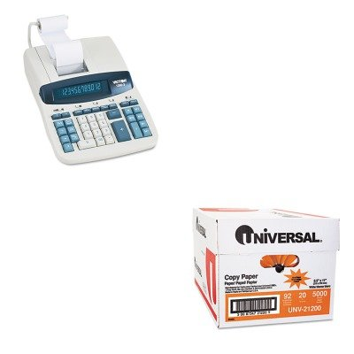 KITUNV21200VCT12603 - Value Kit - Victor 1260-3 Two-Color Heavy-Duty Printing Calculator (VCT12603) and Universal Copy Paper (UNV21200)