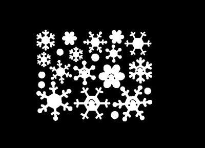 LLguz Wall Window Stickers Angel Snowflake Christmas Xmas Art Decoration Decals