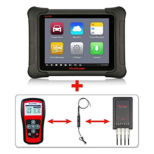 Autel Maxisys Elite+TS401+MV105+MP408 -Diagnostic Tool with ECU Coding & Programming TPMS Diagnostics & Service and Inspection Video Scope with 2 Years Free Update